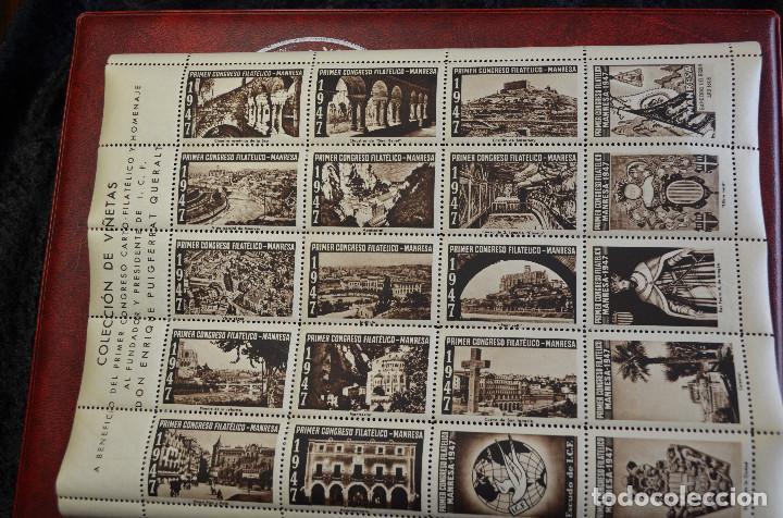 MANRESA - PRECIOSA PÁGINA DE VIÑETAS FILATÉLICAS (Sellos - España - II Centenario De 1.950 a 1.975 - Usados)
