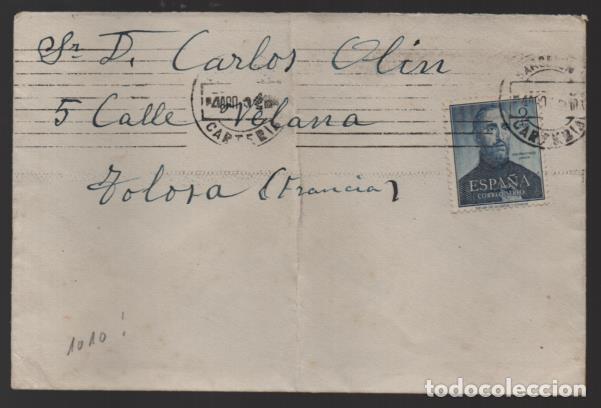 CARTA CIRCULADA A FRANCIA- SELLO E.D. Nº 1118.-VER FOTO (Sellos - España - II Centenario De 1.950 a 1.975 - Cartas)