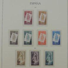 Timbres: HOJA CON SELLOS DE ESPAÑA – AÑO 1956/57/58. Lote 224446942