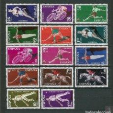 Timbres: ESPAÑA 1960 - EDIFIL 1306/19 ** - DEPORTES - MNH. Lote 224871161