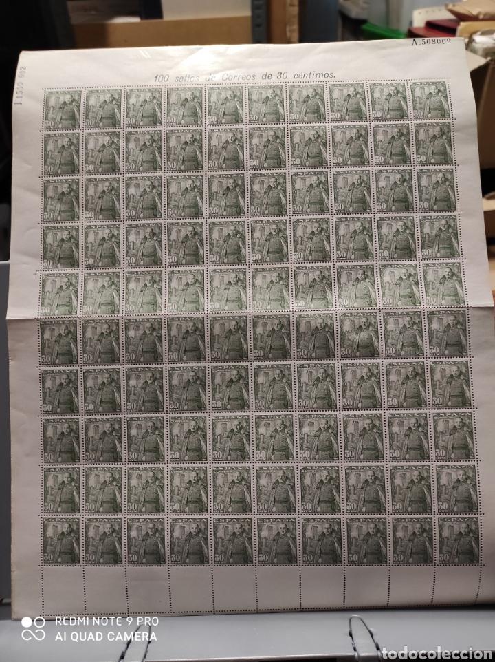 EDIFIL 1025. FRANCICO FRANCO - CASTILLO DE LA MOTA 30 CTS. PLIEGO 100 SELLOS (Sellos - España - II Centenario De 1.950 a 1.975 - Nuevos)