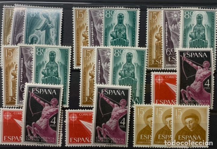 9 SERIES AÑOS 50. NUEVAS Y LIGERA SEÑAL DE FIJASELLOS (Sellos - España - II Centenario De 1.950 a 1.975 - Nuevos)