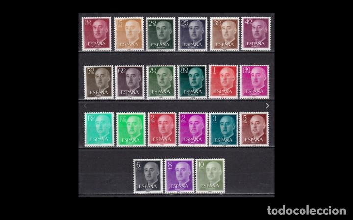 ESPAÑA - 1955-56 - EDIFIL 1143/1163 - SERIE COMPLETA - MNH** - NUEVOS - GENERAL FRANCO. (Sellos - España - II Centenario De 1.950 a 1.975 - Nuevos)