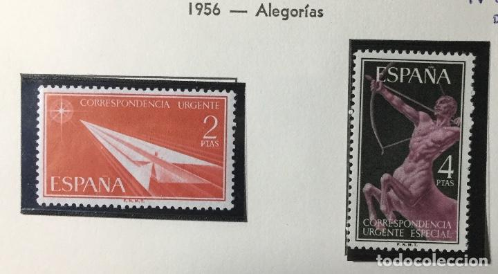 1956 , ALEGORÍAS , EDIFIL 1185 A 1186 , NUEVOS CON GOMA OROGINAL , SIN SEÑAL FIJ. (Sellos - España - II Centenario De 1.950 a 1.975 - Nuevos)