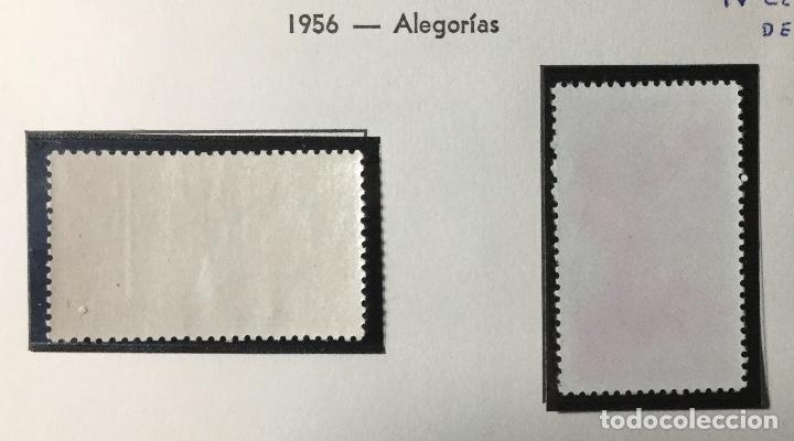 Sellos: 1956 , ALEGORÍAS , EDIFIL 1185 a 1186 , NUEVOS CON GOMA OROGINAL , SIN SEÑAL FIJ. - Foto 2 - 225556905