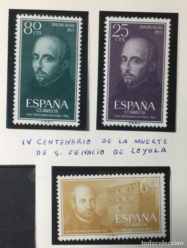 1955 , SAN IGNACIO LOYOLA , SERIE COMPLETA , EDIFIL 1166 A 1168 , NUEVOS CON GOMA SON SEÑAL FIJ. (Sellos - España - II Centenario De 1.950 a 1.975 - Nuevos)