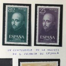 Sellos: 1955 , SAN IGNACIO LOYOLA , SERIE COMPLETA , EDIFIL 1166 A 1168 , NUEVOS CON GOMA SON SEÑAL FIJ.. Lote 225557655