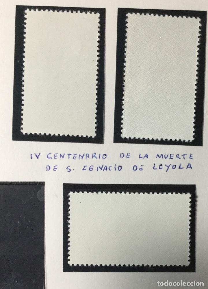Sellos: 1955 , SAN IGNACIO LOYOLA , SERIE COMPLETA , EDIFIL 1166 a 1168 , NUEVOS CON GOMA SON SEÑAL FIJ. - Foto 2 - 225557655