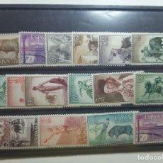 Sellos: SELLOS TAUROMAQUIA AÑO 1960 SERIE COMPLETA NUEVA CON ALGO DE GOMA. Lote 226077605