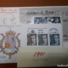 Timbres: SELLOS ESPAÑA SOBRES PRIMER DIA 1981 AÑO COMPLETO. Lote 226637675