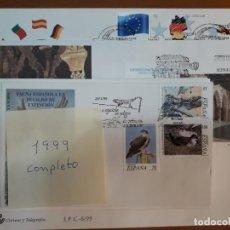 Timbres: SELLOS ESPAÑA SOBRES PRIMER DIA 1999 AÑO COMPLETO. Lote 226639466