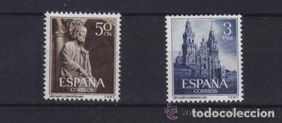 1130/1131 ** NUEVO SIN SEÑAL DE FIJASELLOS . AÑO 1954 AÑO SANTO COMPOSTELANO . BUENOS CENTRADOS (Sellos - España - II Centenario De 1.950 a 1.975 - Nuevos)