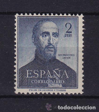 1118 ** , NUEVO SIN SEÑAL DE FIJASELLOS , . AÑO 1952 MUERTE DE SAN FCO. JAVIER (Sellos - España - II Centenario De 1.950 a 1.975 - Nuevos)