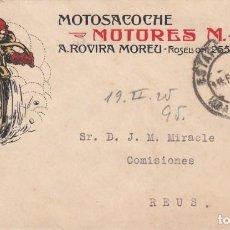 Selos: MOTORISMO - SOBRE PUBLICITARIO DE MOTOSACOCHE - MOTORES MAG DE A.ROVIRA MOREU EN BARCELONA -. Lote 227564470