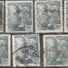 Sellos: ESPAÑA FRANCO EDIFIL 927 LOTE CON 11 SELLOS USADOS 1940. Lote 228345845