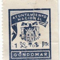 Sellos: PONTEVEDRA AYUNTAMIENTO DE GONDOMAR SELLO MUNICIPAL LOCAL 1 PT. TIMBRE FISCAL. Lote 229415455