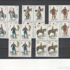 Selos: ESPAÑA- 2381/85 UNIFORMES MILITARES SELLOS NUEVOS EN BLOQUE DE 4 (SEGUN FOTO). Lote 229422375