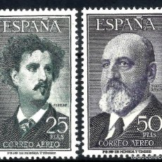 Sellos: EDIFIL 1164 1165 LUJO MNH SELLOS ESPAÑA AÑO 1955 1956 TORRES QUEVEDO Y FORTUNY. Lote 230088105