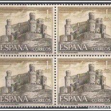 Sellos: SELLOS NUEVOS DE ESPAÑA AÑO 1966 BLOQUE DE 4 (CASTILLOS DE ESPAÑA) EDIFIL 1744. Lote 230190320