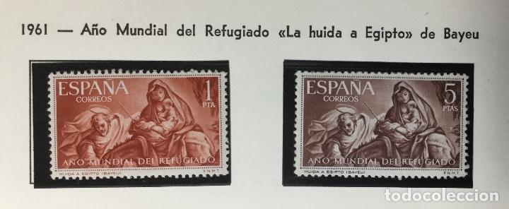 SERIE COMPLETA EDIFIL 1326 Y 1327 , AÑO MUNDIAL DEL REFUGIADO , 1961 , NUEVOS CON GOMA, CON SEÑAL F (Sellos - España - II Centenario De 1.950 a 1.975 - Nuevos)