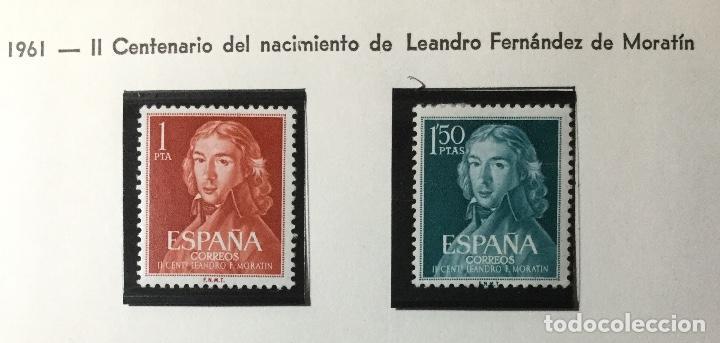 SERIE COMPLETA EDIFIL 1328 / 1329 , NUEVOS CON GOMA ORIGINAL , CON SEÑAL DE FIJ. (Sellos - España - II Centenario De 1.950 a 1.975 - Nuevos)