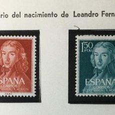 Sellos: SERIE COMPLETA EDIFIL 1328 / 1329 , NUEVOS CON GOMA ORIGINAL , CON SEÑAL DE FIJ.. Lote 231601310
