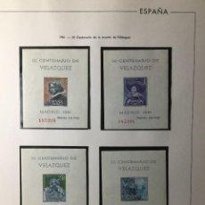Sellos: SERIE COMPLETA HOJAS CENTENARIO VELÁZQUEZ , 1344/1347 ,MISMA NUMERACIÓN , NUEVAS CON GOMA ORIGINAL. Lote 231602345