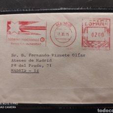 Francobolli: TEMA LOTERÍA. FRANQUEO MECÁNICO DE LA LOTERÍA NACIONAL. SORTEO EXTRAORDINARIO DE NAVIDAD. 1975. Lote 232053975