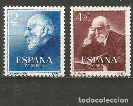ESPAÑA RAMON Y CAJAL Y FERRAN EDIFILL NUM. 1119/1120 ** SERIE COMPLETA SIN FIJASELLOS (Sellos - España - II Centenario De 1.950 a 1.975 - Nuevos)