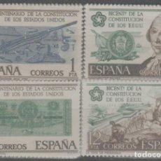 Sellos: LOTE L-SELLOS ESPAÑA INDEPENDENCIA ESTADOS UNIDOS AÑO 1976 NUEVOS SIN CHARNELA SERIE COMPLETA. Lote 277166018