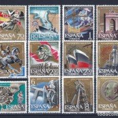 Sellos: EDIFIL 1353-1364 ANIVERSARIO DEL ALZAMIENTO NACIONAL 1961 (SERIE COMPLETA). MNH **. Lote 234030830