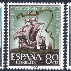 Sellos: EDIFIL 1513-1515 CONGRESO DE INSTITUCIONES HISPÁNICAS 1963 (VARIEDAD..IMPRESIÓN) (COMPLETA). MNH **. Lote 234035545