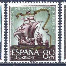 Sellos: EDIFIL 1513-1515 CONGRESO DE INSTITUCIONES HISPÁNICAS 1963 (SERIE COMPLETA). MNHH **. Lote 234302190
