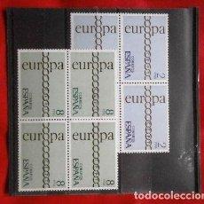 Sellos: ESPAÑA EDIFIL Nº 2031/32 AÑO 1971 EUROPA CEPT BLOQUE DE 4 SERIE COMPLETA (NUEVOS). Lote 234408645
