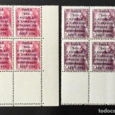 Sellos: 1951-ESPAÑA EDIFIL 1088/89 MNH** VISITA DEL CAUDILLO A CANARIAS BLOQUE DE 4 - NUEVO SIN CHARNELA -. Lote 234668760