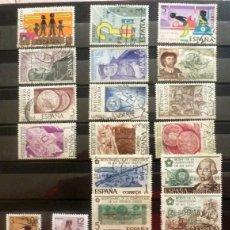 Sellos: SELLOS ESPAÑA 1975 - FOTO 502 - LOTE 329 -SERIES COMPLETAS, USADO. Lote 234734110