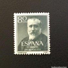 Sellos: 1954-ESPAÑA EDIFIL 1142 MNH** MENENDEZ Y PELAYO - SELLO NUEVO SIN CHARNELA -. Lote 235130835