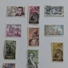 Sellos: BONITO CONJUNTO 12 SELLOS 1965/1975. Lote 235137150