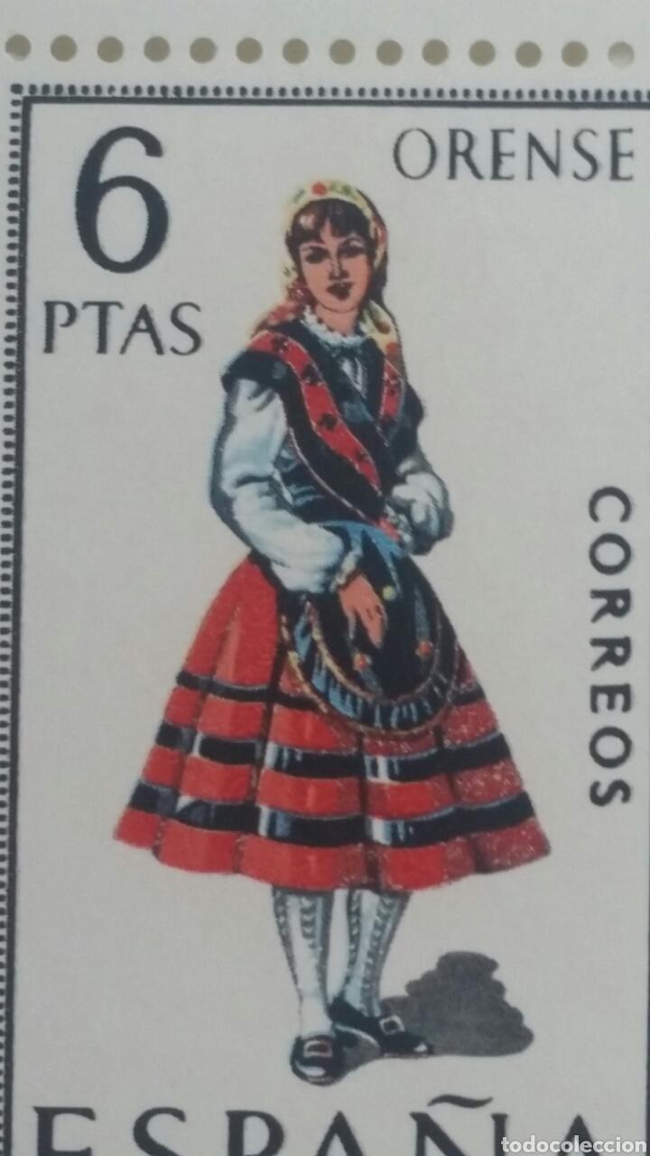 SELLOS TRAJES REGIONALES ORENSE LOTE 5 UNIDADES (Sellos - España - II Centenario De 1.950 a 1.975 - Nuevos)