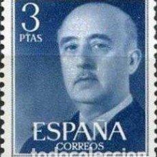 Sellos: FRANCOBOLLO - SPAGNA - FRANCO, GENERAL - 3 PTAS - 1955 - USATO. Lote 235969805