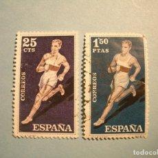 Sellos: ESPAÑA 1960 - DEPORTES - EDIFIL 1306 Y 1311 - ATLETISMO.. Lote 236027670