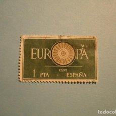 Sellos: ESPAÑA 1960 - EUROPA - EDIFIL 1294 - RUEDA 19 RADIOS.. Lote 236028945