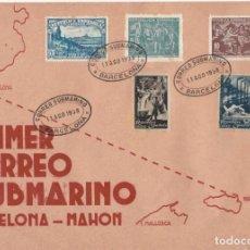 Sellos: ESPAÑA SOBRE DEL AÑO 1938 CORREO SUBMARINO MUY DIFICIL Y BONITA. Lote 236833195