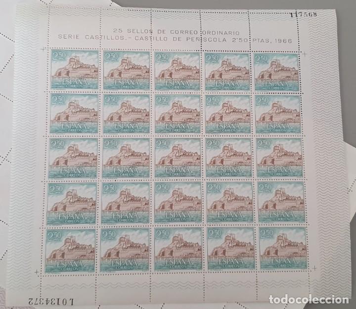 PLIEGO 25 SELLOS SERIE CASTILLOS - CASTILLO DE PEÑISCOLA 2,50 PESETAS 1966 (Sellos - España - II Centenario De 1.950 a 1.975 - Nuevos)