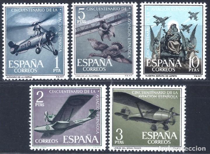 EDIFIL 1401-1405 ANIVERSARIO DE LA AVIACIÓN ESPAÑOLA 1961 (SERIE COMPLETA). MNH ** (Sellos - España - II Centenario De 1.950 a 1.975 - Nuevos)