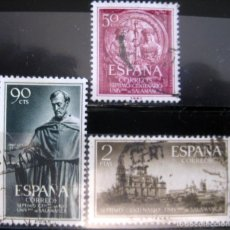 Sellos: ESPAÑA. AÑO 1953, EDIFIL 1126/28 US ''UNIVERSIDAD DE SALAMANCA''./ USADOS./ FOTOS.. Lote 237394025