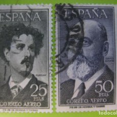 Sellos: ESPAÑA. AÑO 1955-56, EDIFIL 1164/65 US ''FORTUNY Y TORRES QUEVEDO''./ USADO./ FOTOS.. Lote 237399675