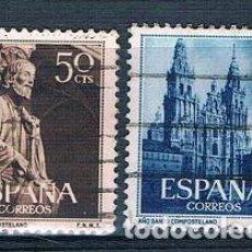 Sellos: ESPAÑA 1954 AÑO SANTO COMPOSTELANO SERIE USADA EDIFIL 1130/1131 USADA. Lote 237576255