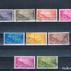 Sellos: ESPAÑA 1955/56 SUPERCONSTELACIÓN Y NAO SANTA MARIA 9 SELLOS EDIFIL 1170 A 1172 1174 A 1179 USADOS. Lote 237577390