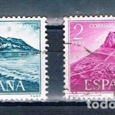 Sellos: ESPAÑA 1969 PRO TRABAJADORES ESPAÑOLES DE GIBRALTAR SERIE USADA EDIFIL 1933/1934. Lote 237580515